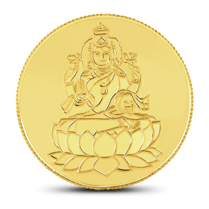 20gm 22kt Lakshmi Gold Coin India Online Caratlane Com