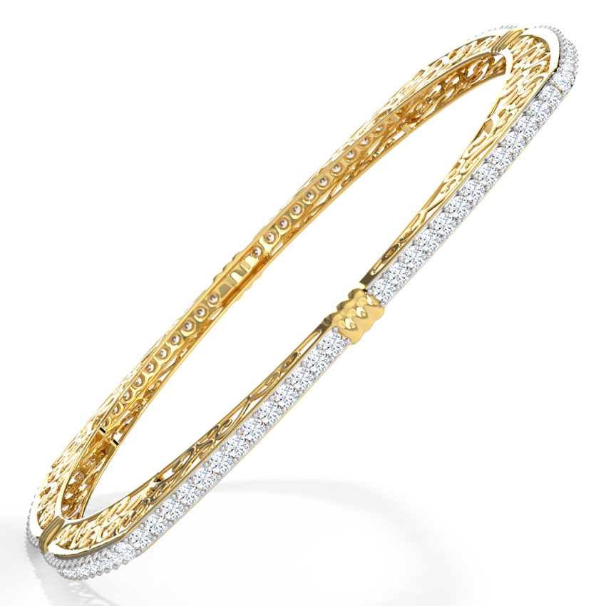 Diamond Bangles Diamond Bangles Designs line at Best Price in