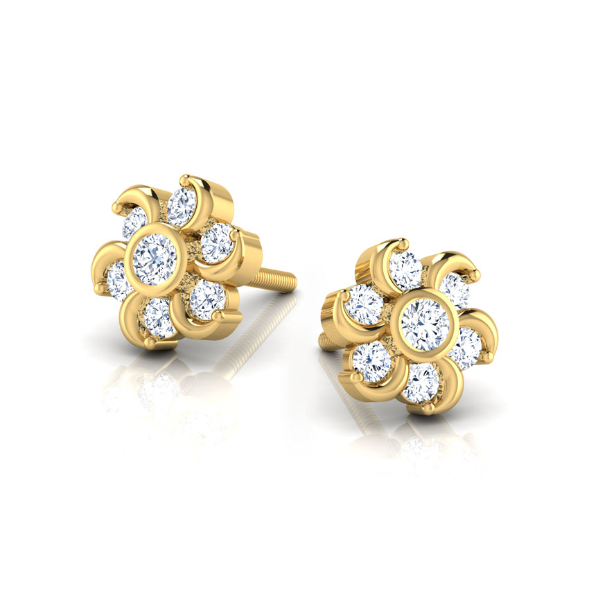 Seven-Stone Diamond Earrings