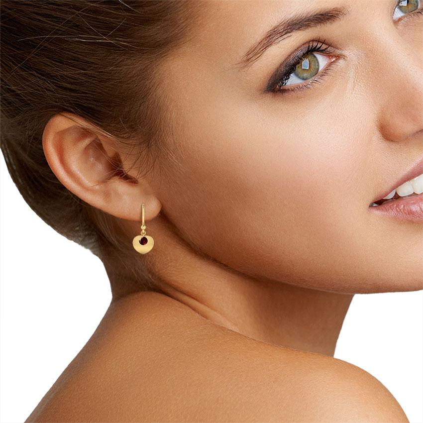 Sweetheart Garnet Earrings