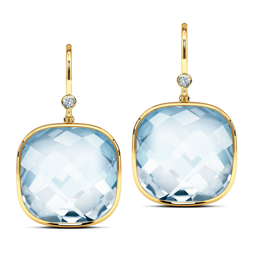 blue topaz drop earrings jewellery india