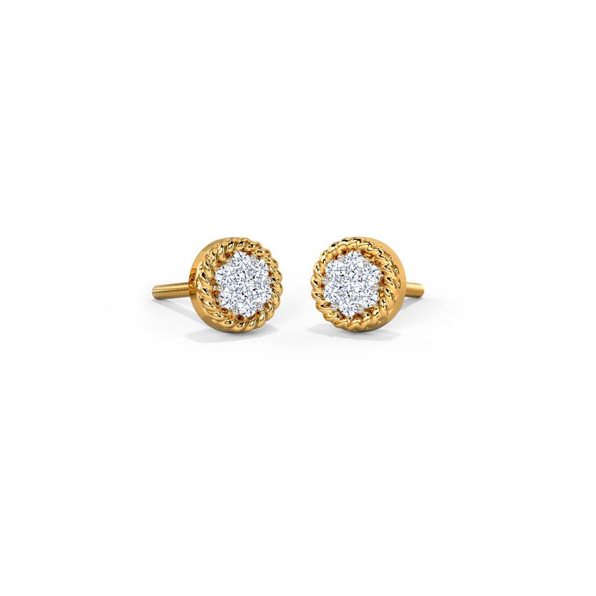 Eartha Cluster Stud Earrings Jewellery India Online - CaratLane.com