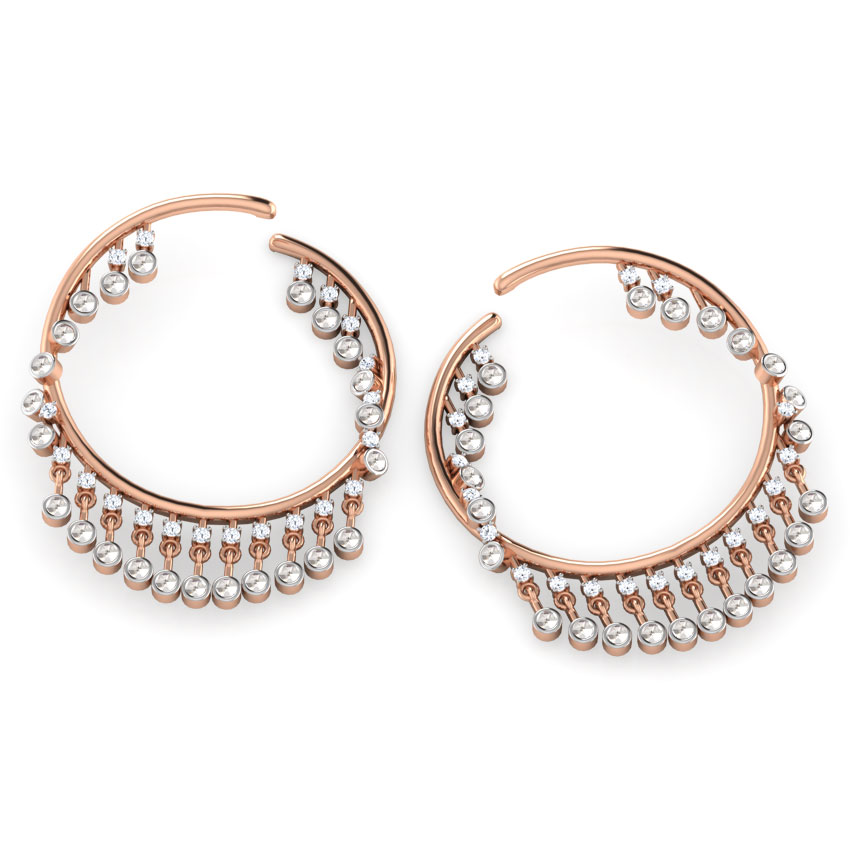 Razzle dazzle hoop earrings jewellery india online caratlane mozeypictures Image collections