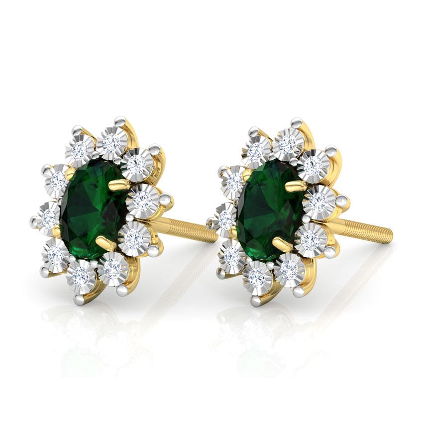Stud Earrings Buy Gold & Diamond Stud Earrings line at Best