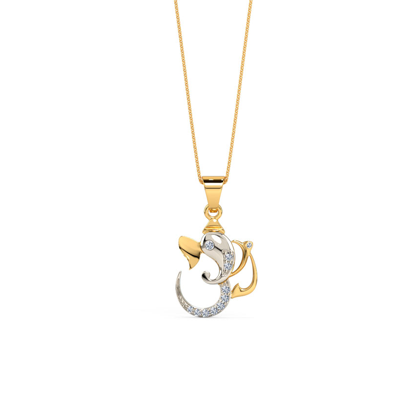 Buy pendants for men design online price starting rs 7063 in india om pendant with ganesha mozeypictures Image collections