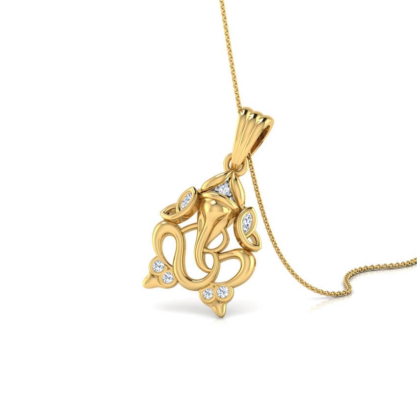 om ganesha pendant jewellery india caratlane