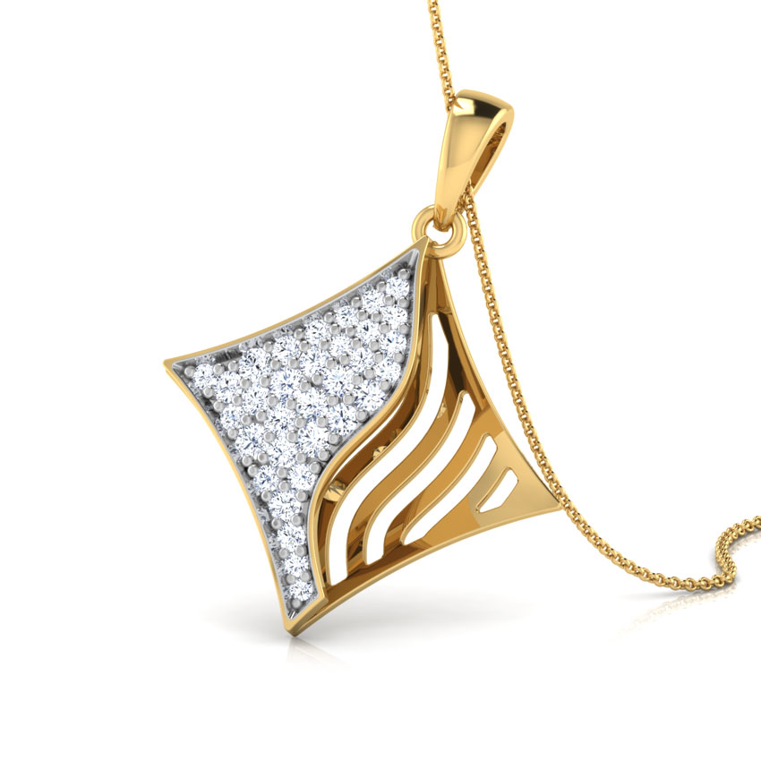 Quad diamond pendant jewellery india online caratlane aloadofball Choice Image