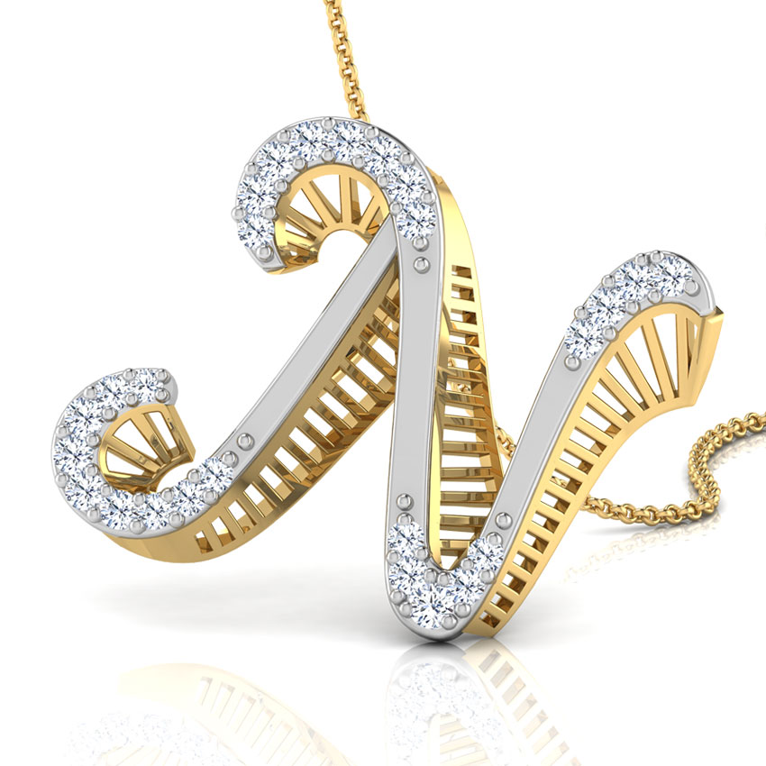 Kerry Alphabet N Pendant Jewellery India Online Caratlane Com