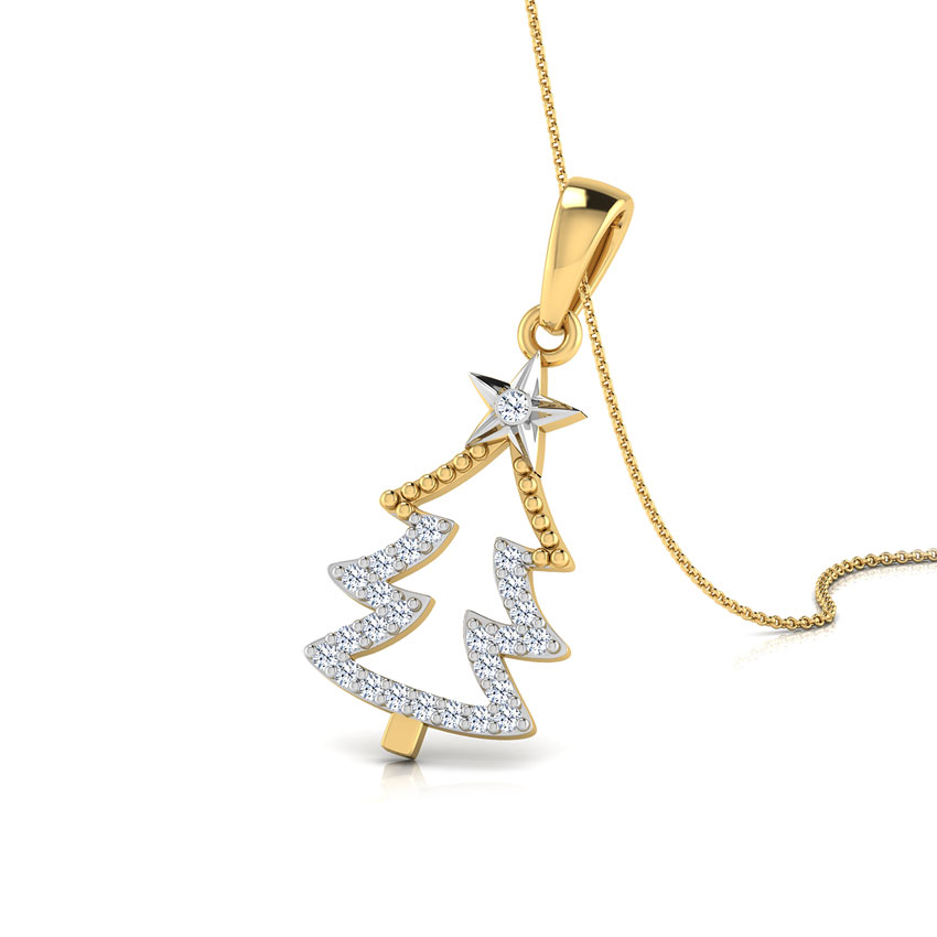 Diamond pendants buy diamond pendant designs online at best christmas diamond tree pendant aloadofball Images