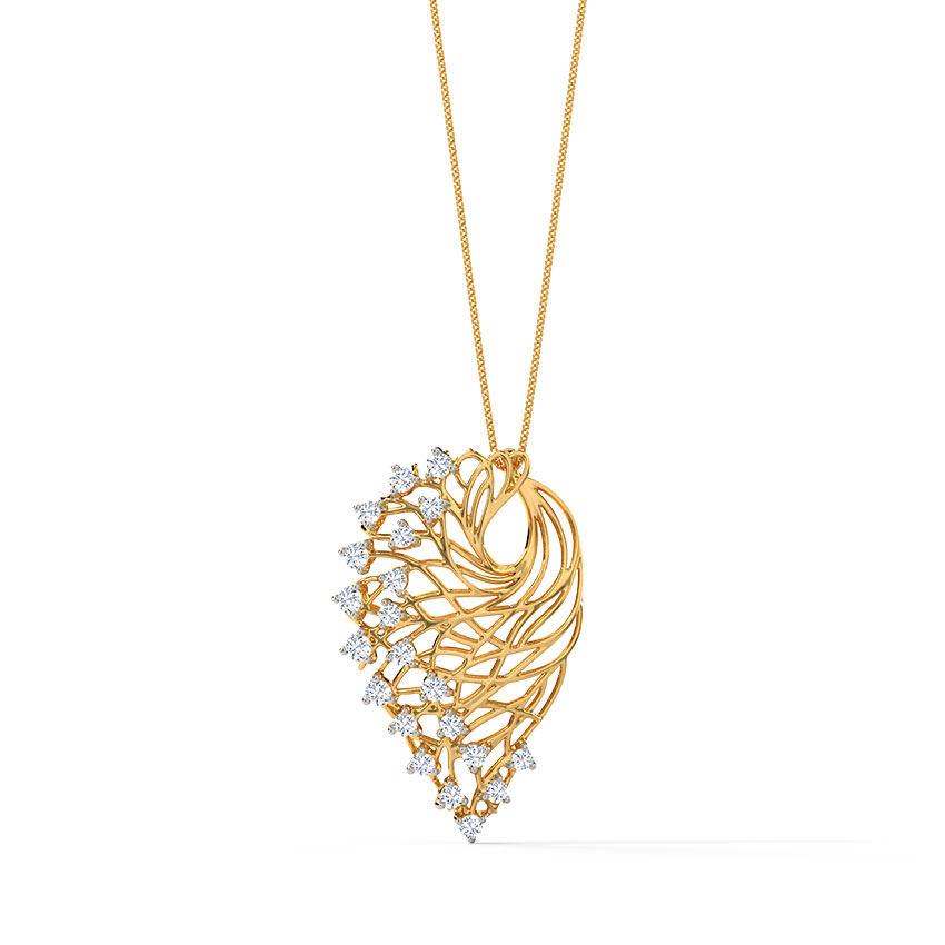Alder root diamond pendant jewellery india online caratlane mozeypictures Image collections