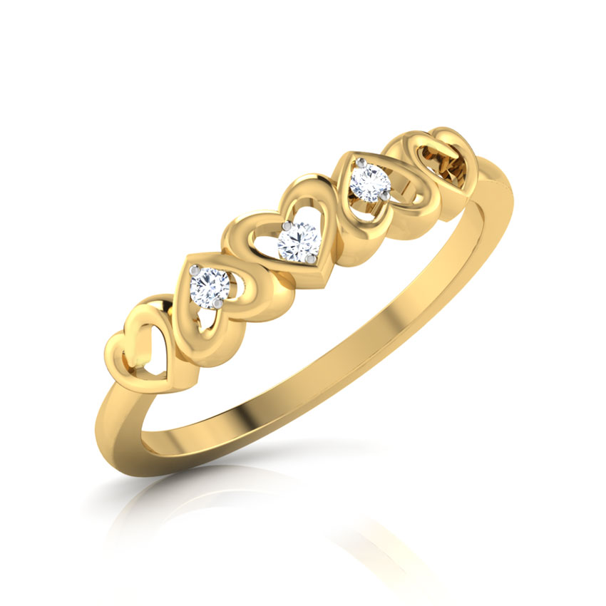 Ura Hearts Diamond Band Jewellery India line CaratLane