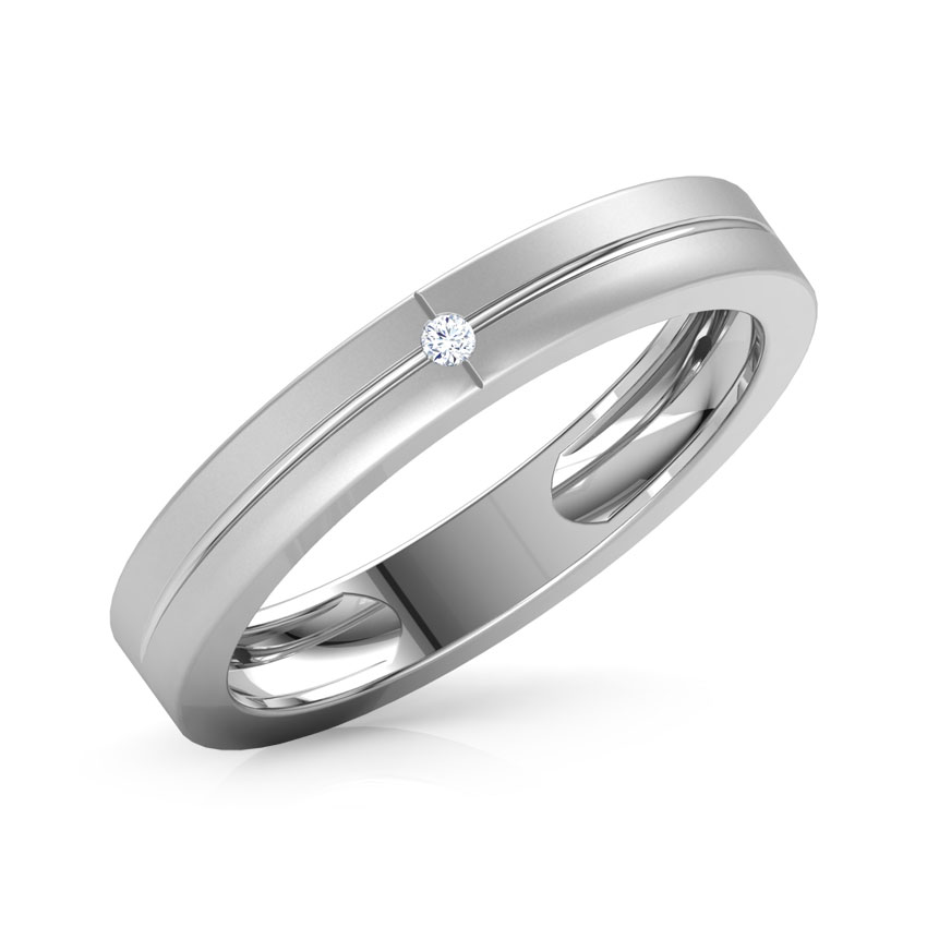 for new platinum round thin bands wedding her band him