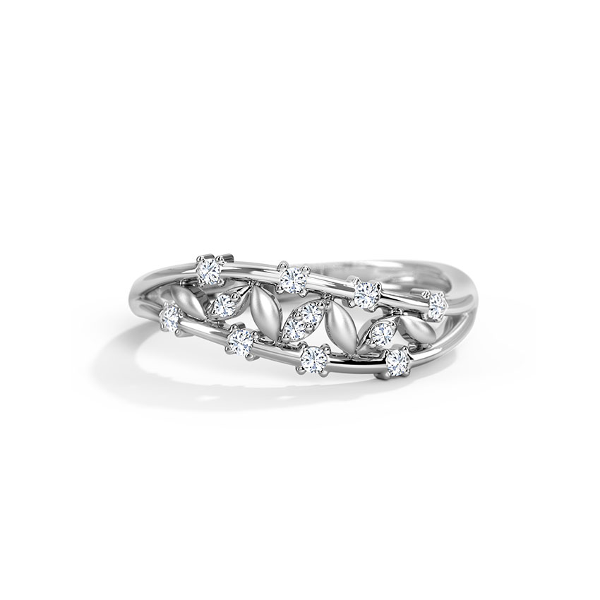 platinum diamond heart bands for jewelove au love women of rings gold grande white products ring jl