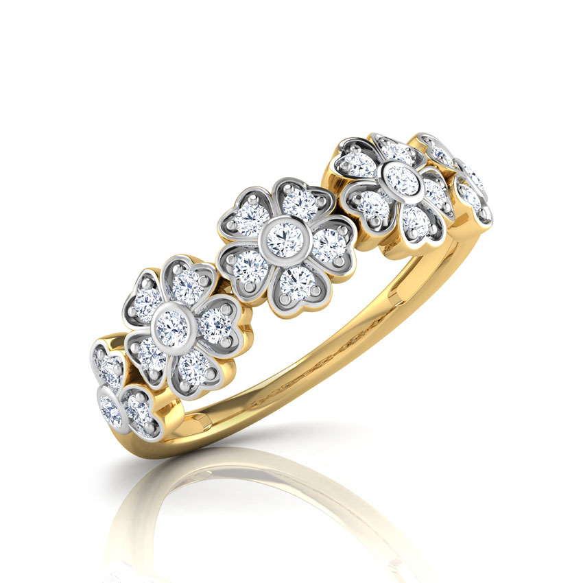 Flo Floral Diamond Band Jewellery India Online - CaratLane.com