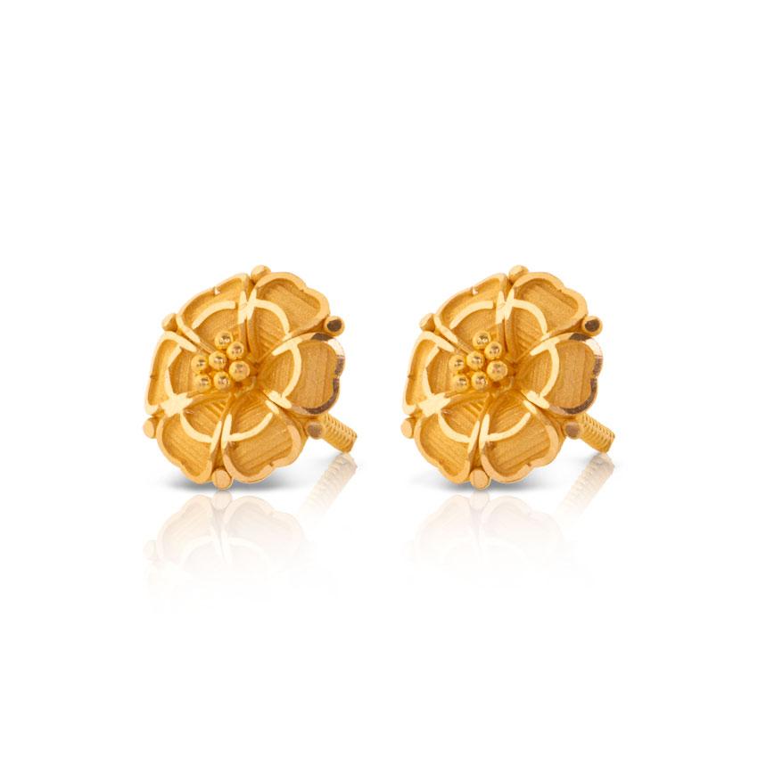 Earrings Designs In Gold Tops - Most Popular Earrings Ideas 2017