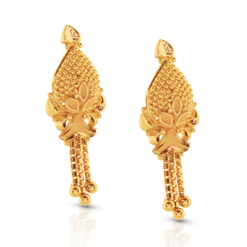 Esita Beaded Gold Drop Earrings Jewellery India Online - CaratLane.com