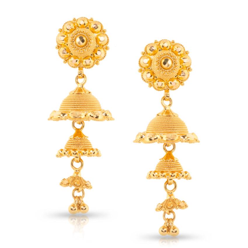 Jhumka Earrings Gold