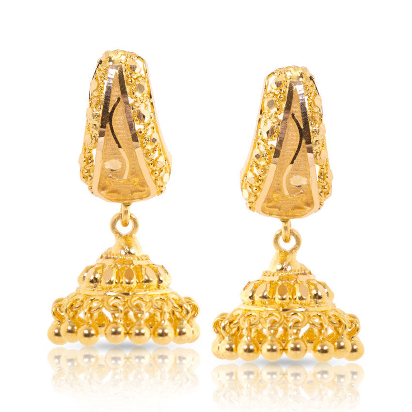 Gold Jhumka Earrings Designs at Best Price in India