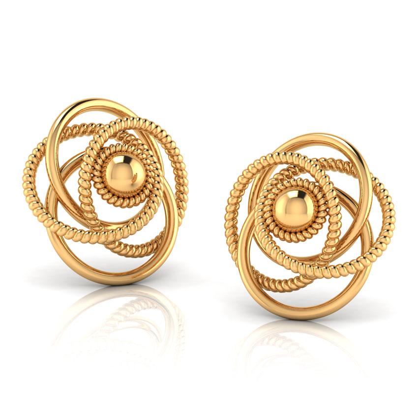 Studs Gold Earrings - Stud Earrings References
