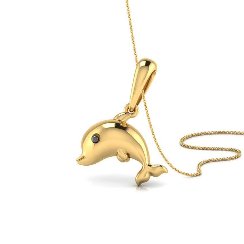 white silver diamond jewelry over dolphin yellow pendant gold accent db watches designs product necklace