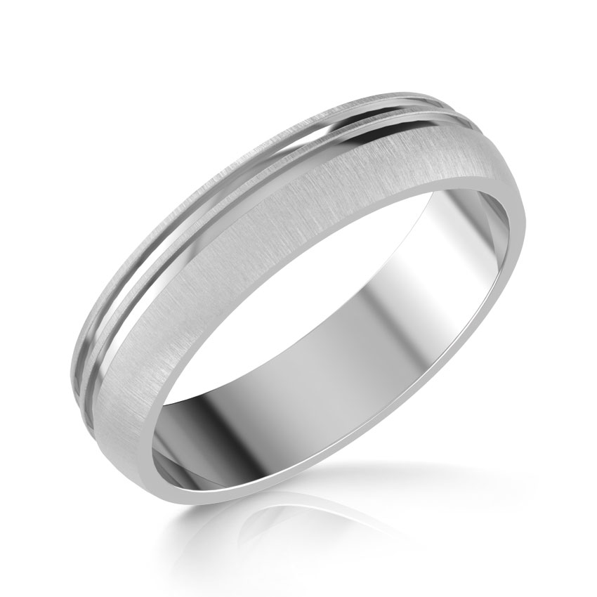 jack platinum band for him - Wedding Rings For Him
