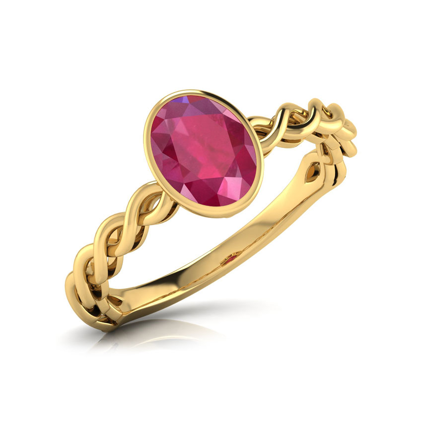 Buy Ruby Rings Design line Price Starting Rs 12 449 in India