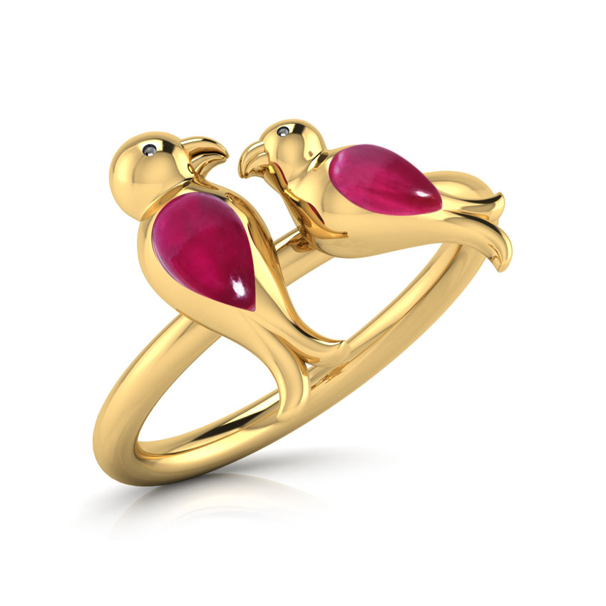 Adore LoveBirds Ring Jewellery India Online - CaratLane.com