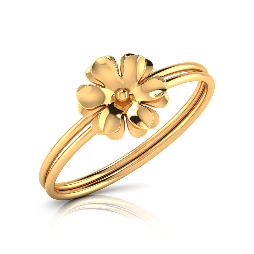 Bloom Gold Ring Jewellery India line CaratLane