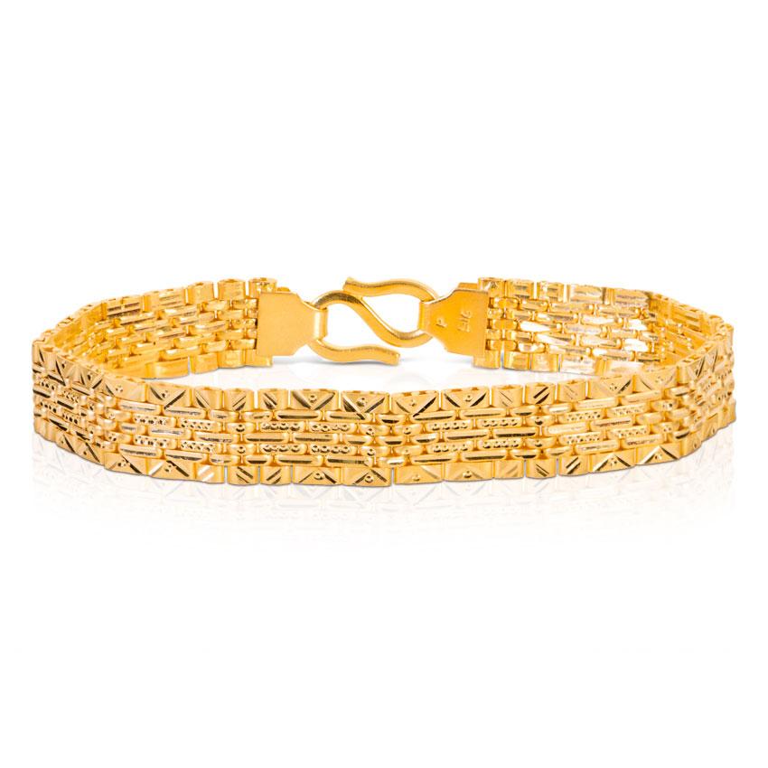 Flat Textured Bracelet Jewellery India Online - CaratLane.com