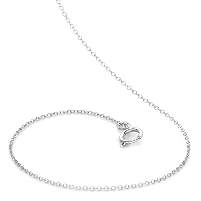 18kt White Gold 18 Inch Cable Chain Jewellery India Online