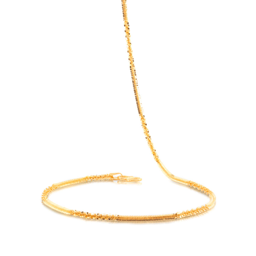 Twisted Link Gold Chain Jewellery India Online - CaratLane.com