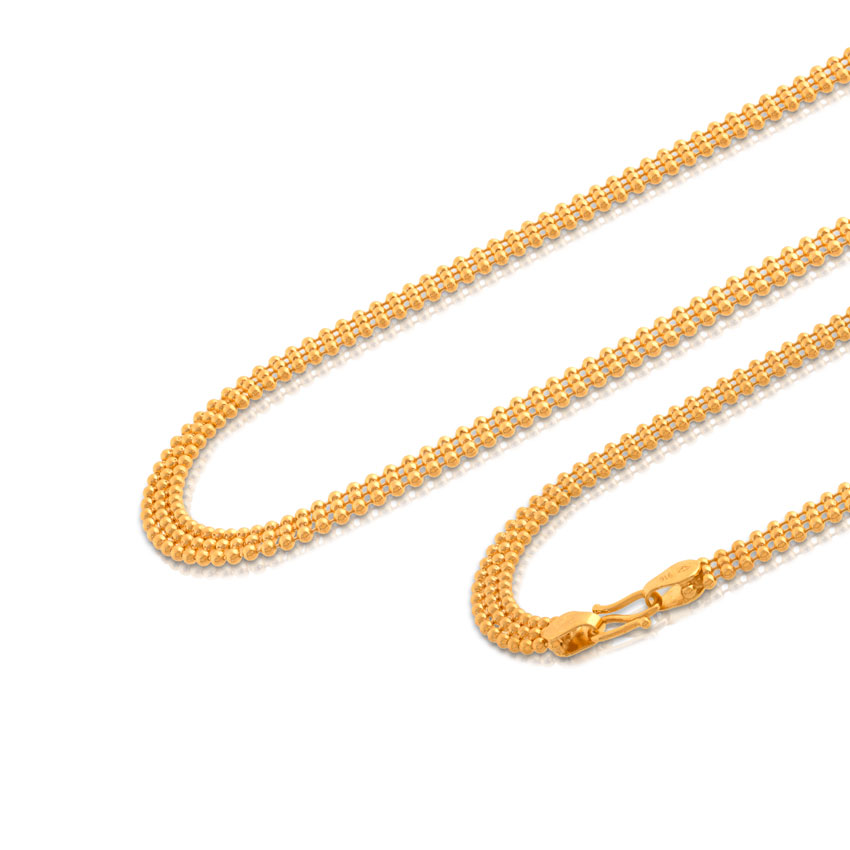 Grand Foxtail Weave Gold Chain Jewellery India Online - CaratLane.com