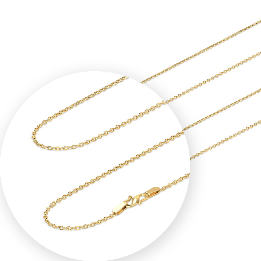 e82be714a03 Sleek Cable Gold Chain Jewellery India Online - CaratLane.com