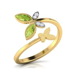Dual Butterfly Gold Ring Jewellery India Online