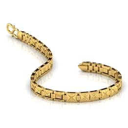 Etched Pattern Strap Men S Bracelet Jewellery India Online