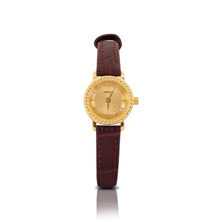 Nebula Classic Watch For Women With Gold Dial
