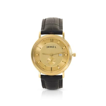 Nebula Classic Watch For Men With Gold Dial