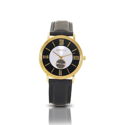 Nebula Classic Watch For Men With Black and White Dial