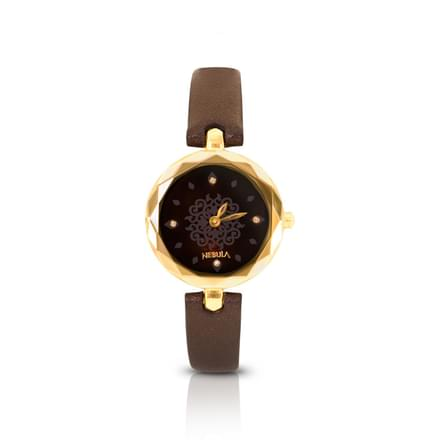 Nebula Mystique Mughal  Watch For Women With Wine red Dial
