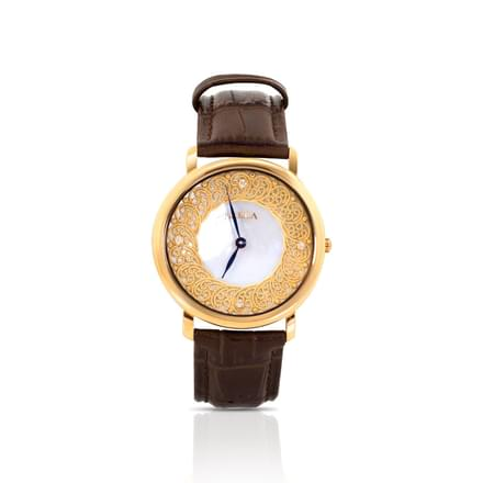 Nebula Filigree  Watch For Men With White + Gold Dial