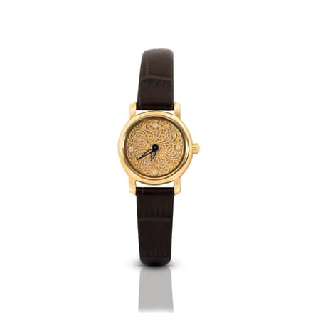 Nebula Filigree  Watch For Women With Gold Dial