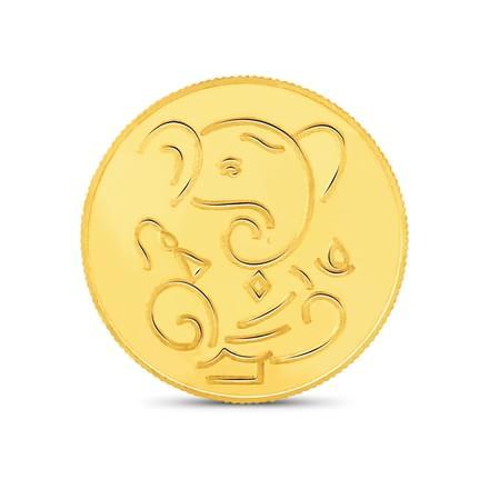1gm, 22Kt Lucky Ganesha Gold Coin