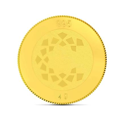 4gm, 24Kt Lucky Ganesha Gold Coin