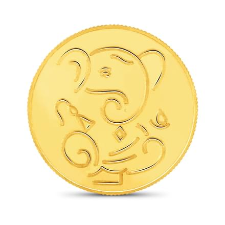 8gm, 22Kt Lucky Ganesha Gold Coin