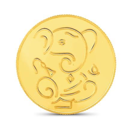 10gm, 22Kt Lucky Ganesha Gold Coin