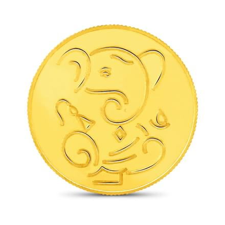 10gm, 24Kt Lucky Ganesha Gold Coin
