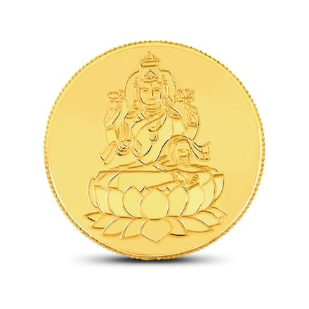 5 gm Lakshmi Gold coin, 22Kt Yellow Gold (916 Fineness)