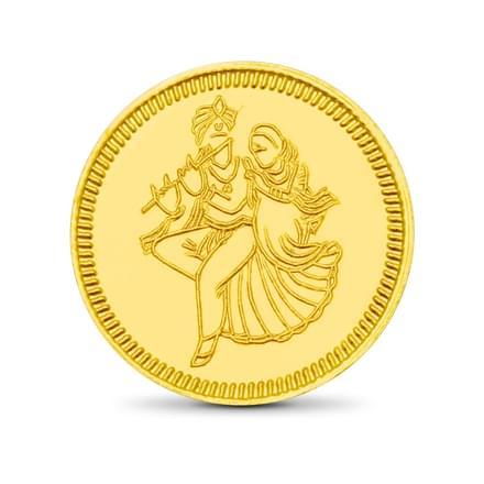 4gm, 24Kt Radhe-Krishna Gold Coin