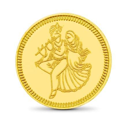 8gm, 24Kt Radhe-Krishna Gold Coin