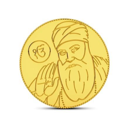 2gm, 24Kt Guru Nanak Gold Coin